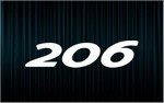 X2 stickers 206 (Peugeot)