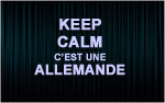 X1 Stickers Keep Calm allemande