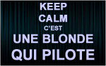 X1 Stickers Keep Calm blonde