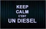 X1 Stickers Keep Calm diesel