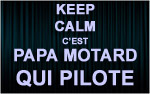 X1 Stickers Keep Calm motard