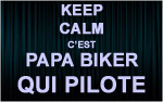 X1 Stickers Keep Calm biker