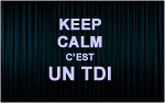 X1 Stickers Keep Calm TDI