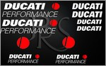KIT stickers DUCATI PERFORMANCE 2 couleurs