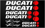 KIT stickers DUCATI RACING 2 couleurs