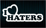 X2 Stickers I LOVE HATERS (1)